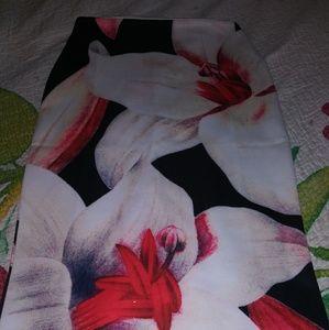 Floral Pencil Skirt Size M/L GORGEOUS!
